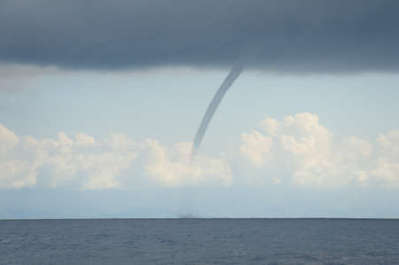 waterspout: Waterspout or tornado that was observed over the Pacific Ocean near Costa Rica. Stock Photo