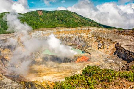 Photo of main crater of Poas Volcano in Costa Rica. Imagens - 24251115