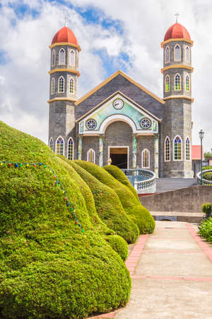 Beautiful church located in Zarcero Costa Rica.