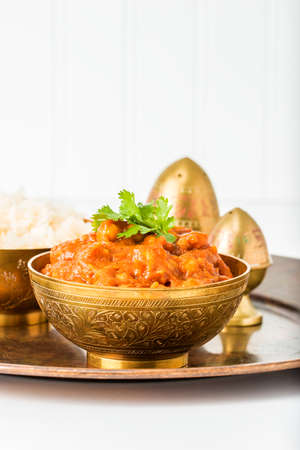 east indian: An East Indian dish consisting of chick peas in a spicy tomato sauce.
