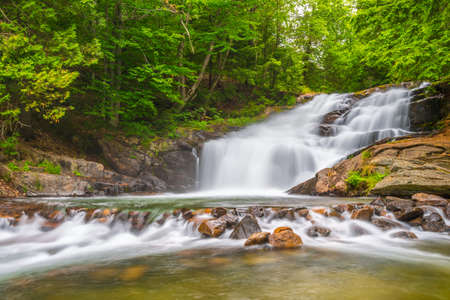 muskoka: Hatchery Falls are located in the District of Muskoka Ontario Canada.