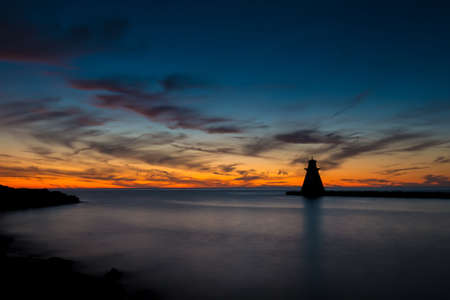 Harbor at Southampton Ontario photographed at sunset. Stock Photo