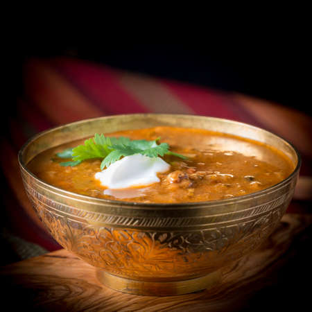 Daal, or dal, is an indian dish commonly made with lentils, split peas and tumeric.