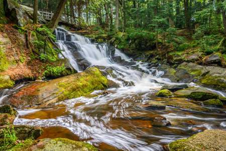 Potts falls are located in Muskoka District near the town of Bracebridge Canada.