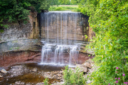 Indian Falls are located near Owen Sound  in Southwestern Ontario. Stok Fotoğraf