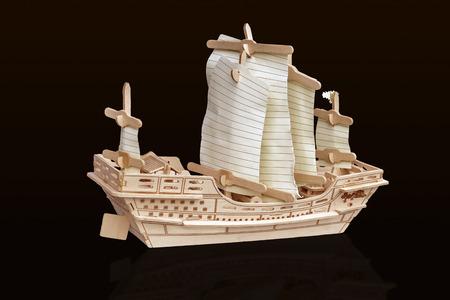 A sailboat made of cork Stock Photo