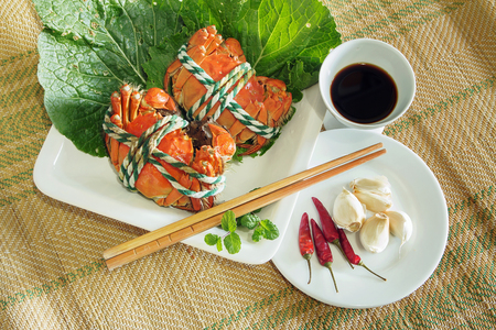 Crab dishes Imagens