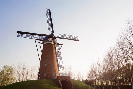 Holland windmill in Nanjing China Green Expo Garden