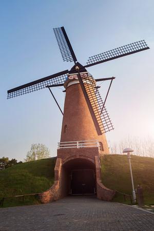 characteristic: Holland windmill in Nanjing China Green Expo Garden