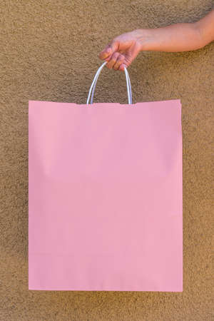 publicize: A shopping bag with copy space. Stock Photo