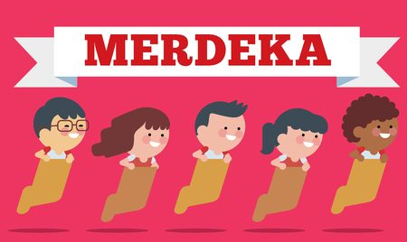 Stock of Illustration Independence Day of Indonesia. Flat Illustration style.