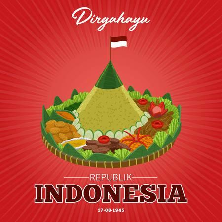 Dirgahayu c'est Vive la république d'Indonésie le 17 août. Jour de l'indépendance de la République indonésienne.