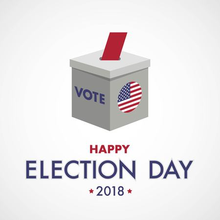 Happy Election Day. Vote for America Ilustração
