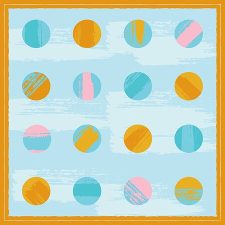 A cheerful design with dot pattern for scarf or hijab Ilustração