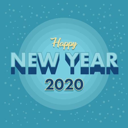 A greetings to welcome the new year 2020 Ilustração