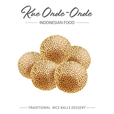 Onde-onde is a traditional snack that is well-known in Indonesia which is made from wheat flour or sticky rice which is fried or boiled and the surface is sprinkled / rubbed with sesame seeds.
