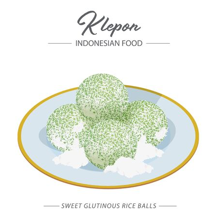 Klepon is a traditional Southeast Asian green-coloured balls of rice cake filled with liquid palm sugar and coated in grated coconut. Can be found in Indonesia, Malaysia, Brunei and Singapore.