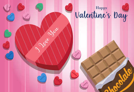 collection of various types of chocolates and valentine heart candies