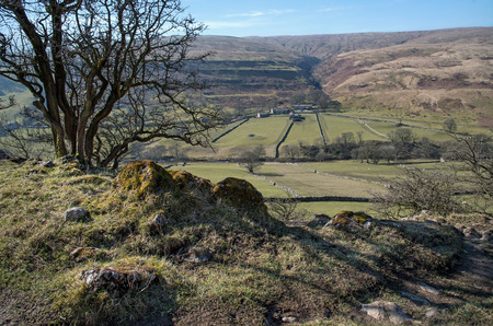 dales: View from above Yockenthwaite. yorkshire dales