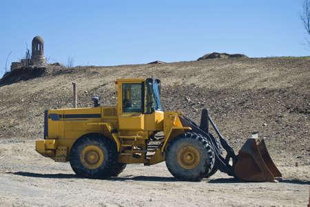 loader: a yellow front loader