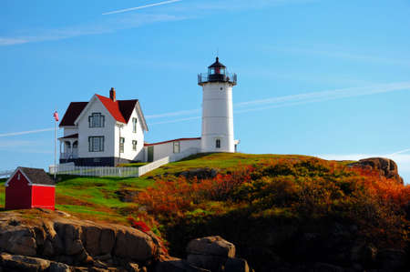 A  sunrise at the Nubble Lighthouse