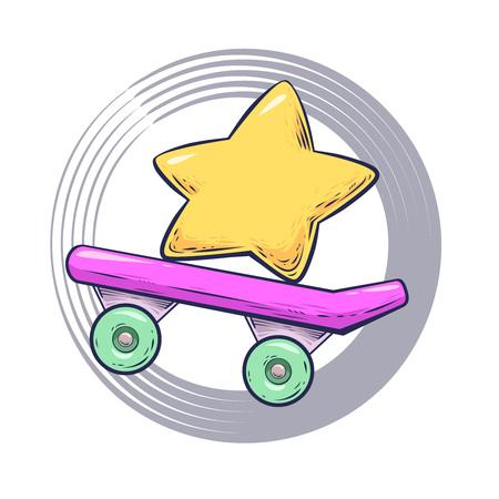 skateboard illustration Illustration