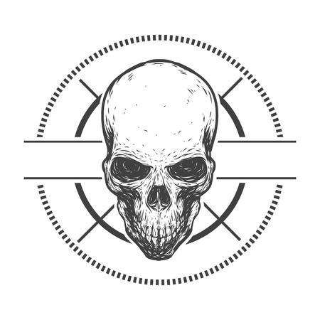 trashy: Creepy skull Illustration