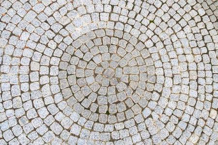 Radial Paving slab, background texture. Paving slabs. Stockfoto - 114734950