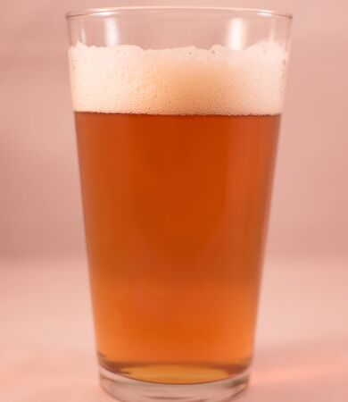 Glass of craft beer