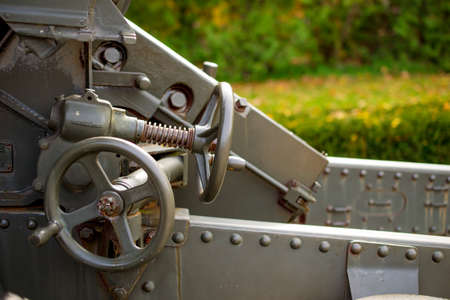 barrel bomb: World War Two Tank Gun Detail Closeup