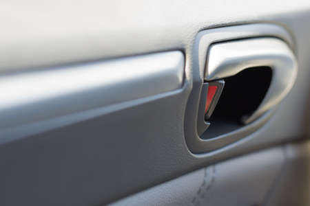 panelling: Vehicle Door Locked with Leather Panelling