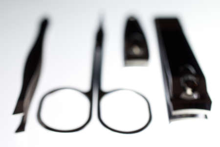 Simple Manicure Set Front View in White Glow Blurred