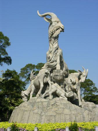 guangzhou: Five Goat Statue is the symbol of Guangzhou, much like the Statue of Liberty in New York City.  Guangzhou, Guangdong Province, China
