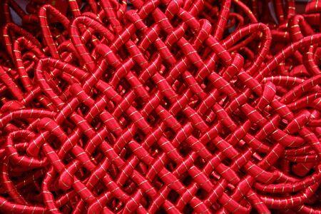 Chinees Good Luck Knot Ornament, nieuwe maanjaar Stockfoto