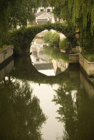 Moon Bridge, Shaoxing, Zhejiang Province, China  Water Reflections, Rural China photo