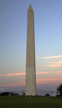disctrict: Washington Monument at Sunset, Washington, DC, Disctrict of Columbia, Mall Stock Photo