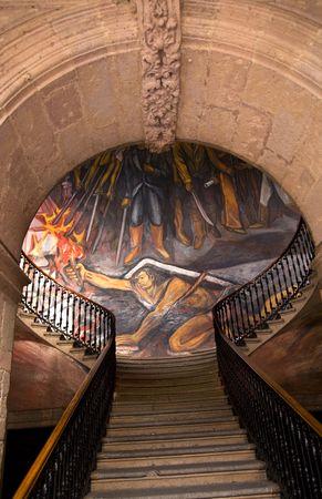 정부 궁전 모렐리 아 멕시코의 계단입니다.