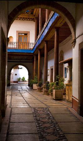 Entrance Arch, Alleyway, Courtyard, Patzcuaro, Mexico