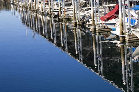 edmonds: Boats Dock Ocean Reflections, Marina, Edmonds, Washington. Without trademarks.