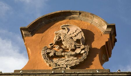 Stone Symbol of Mexico, Eagle, Rattlesnake, Mexican Government Building, San Miguel de Allende