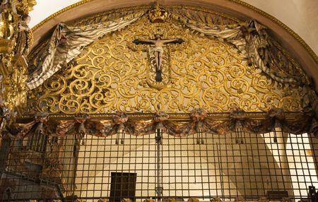 Nuns Balcony Santa Clara Church, Convent, Templo, Queretaro, Mexico\r Фото со стока