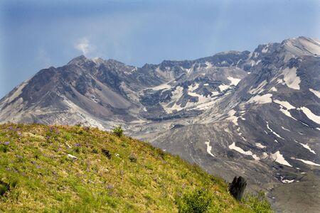 Caldera Lava Dome Close Up Mount Saint Helens Volcano National Park Washington Stock Photo - 3522419