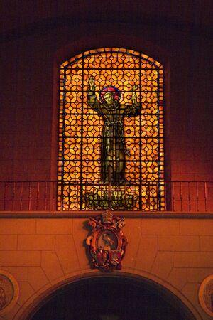 Saint Francis De Assis Stained Glass Mission Dolores Saint Francis Papel Insigna Symbol San Francisco California