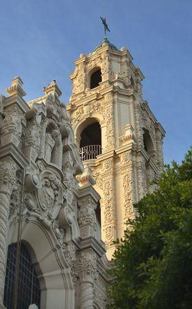 Front Ornate Carvings Facade Steeple Cross Mission Dolores Saint Francis De Assis San Francisco California