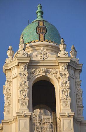 Ornate Steeple Mission Dolores Saint Francis De Assis Carvings San Francisco California