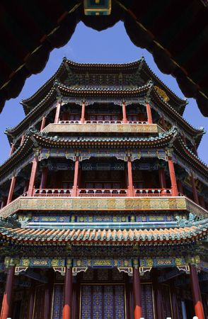 people's cultural palace: Longevity Hill Tower of the Fragrance of the Buddha Summer Palace Beijing China