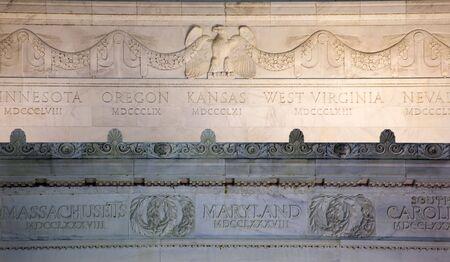 Lincoln Memorial Close Up Details States Eagle, Marble Washington DC photo