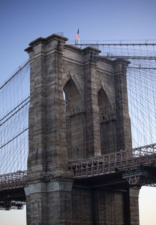 backlite: Brooklyn Bridge New York City Stock Photo