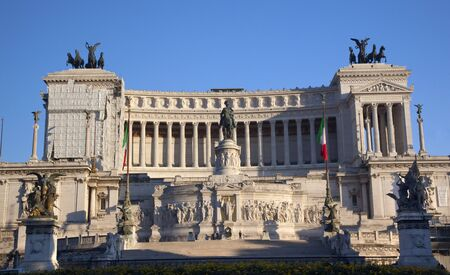 Vittorio Emanuele II Monument Tomb of Unknown Soldier Central Rome Italy Builit in 1921 photo