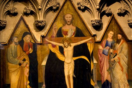 episcopal: Christ Holy Spirit Painting Trinity Episcopal Church New York City Church of England